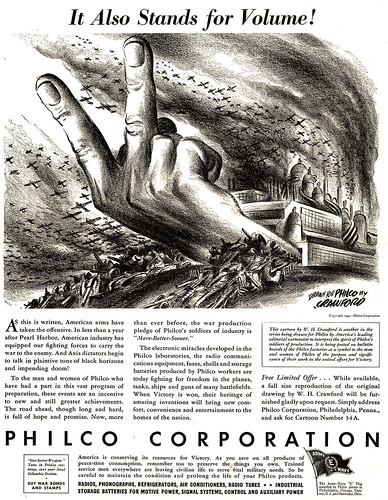 Gang Sign in WWII Philco Brag Ad by lee.ekstrom