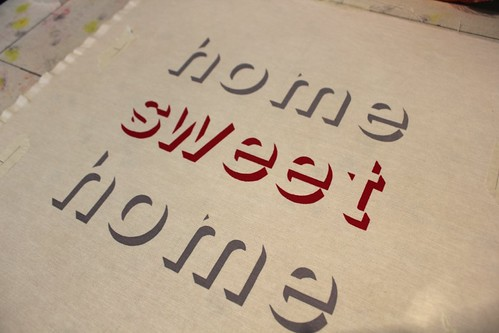 home sweet home - grey and raspberry