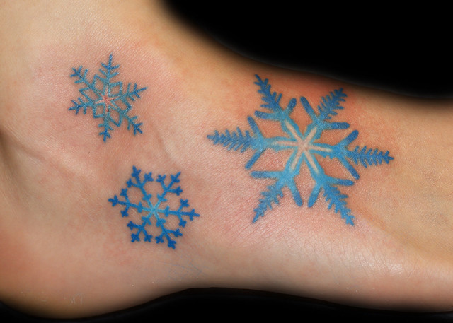 blue snowflakes tattoo flickr photo sharing. Black Bedroom Furniture Sets. Home Design Ideas