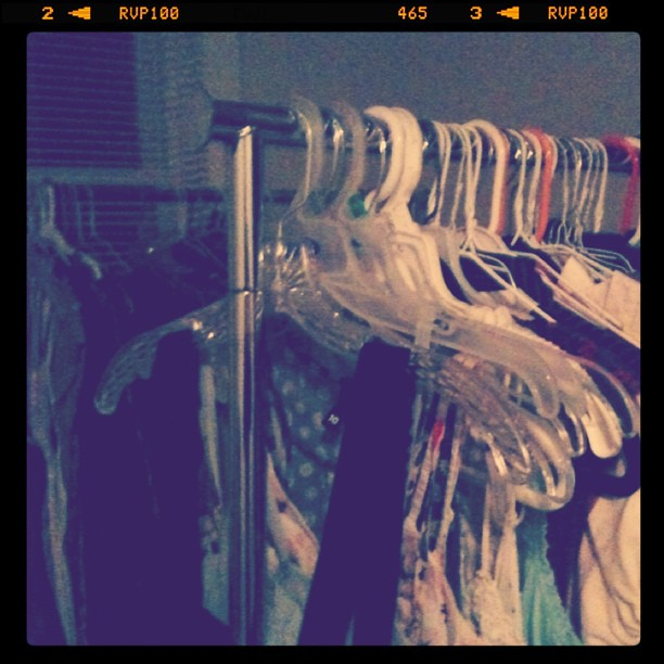 I have garment racks now