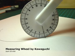 Using the measuring wheel