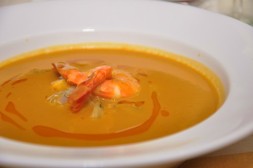 roasted butternut and shellfish broth
