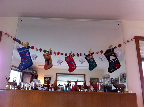 stockings and mantel