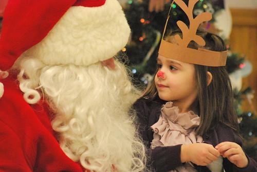 Madeline and Santa 2011