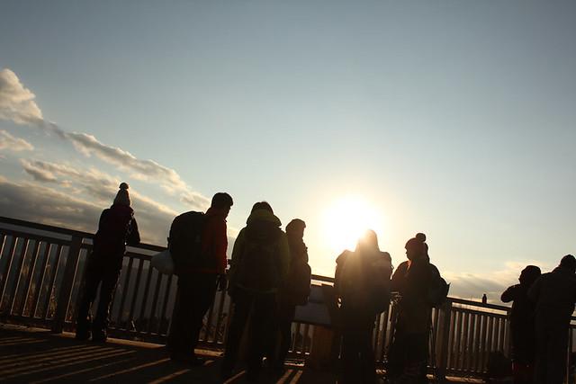 高尾山の夕焼け