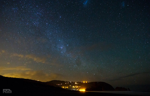 Night Sky Over Piha