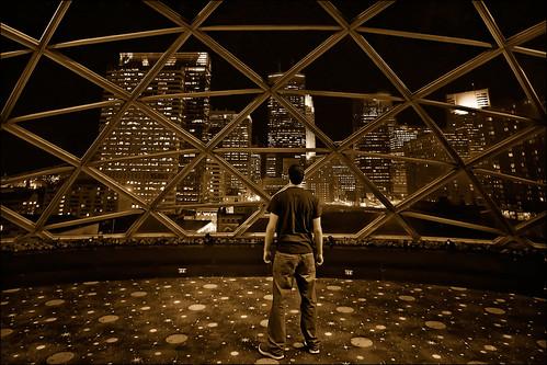 minnesota skyline night spectacular downtown view minneapolis dome twincities mn glassdome millenniumhotel cousingreg geodescentdome