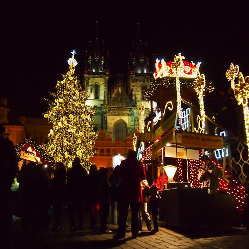 旧市街のクリスマスマーケット@プラハ