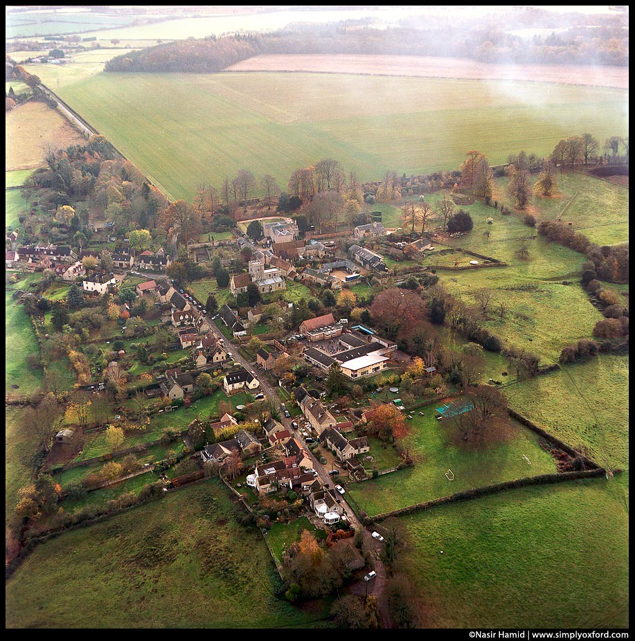 Little village from the air