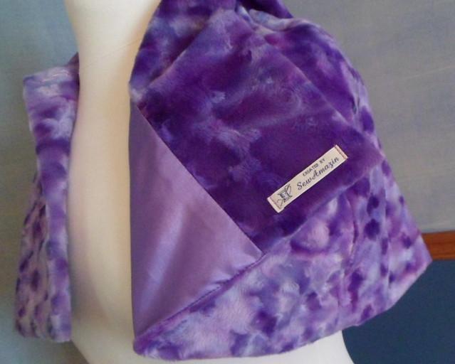 Pretty Purple Hooded Capelet