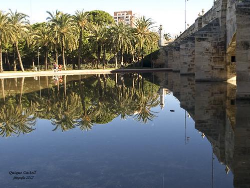 Reflejos.Antiguo cauce del Turia. by Quique Castell