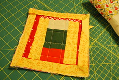 pot holder with binding