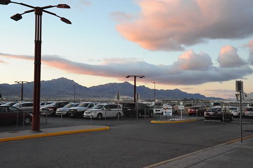 El Paso 空港にて。