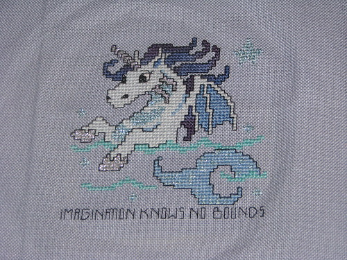 Imagination Creation Finished Cross Stitch