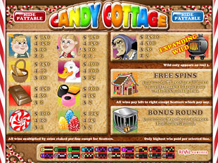 Candy Cottage Slots Payout