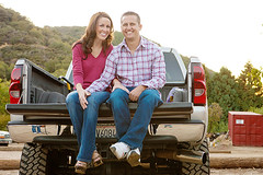 Joseph & Janelle Engagement at Snow Line Orchards in Oak Glen