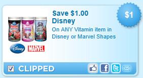 Disney Or Marvel Vitamins Coupon