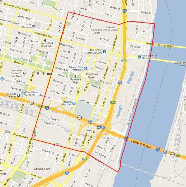 downtown stl neighborhood map