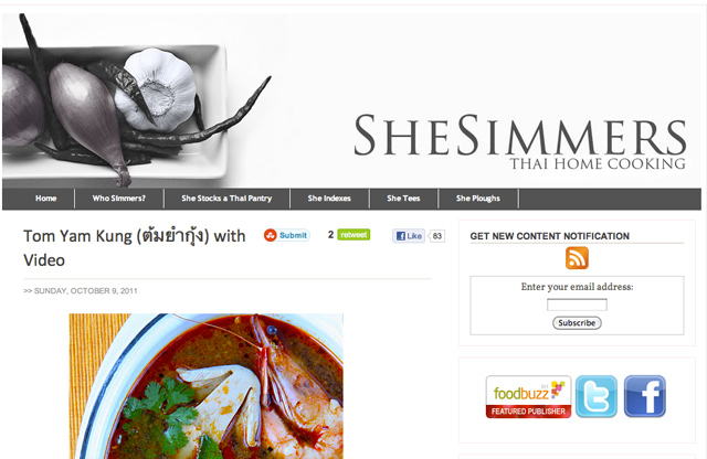 Thai Food Blogs