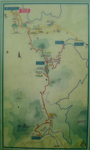 Map - Ruili Rueli to Fenqihu Fenchihu Fencihu Historic Trail - Fenqihu, Alishan,Taiwan