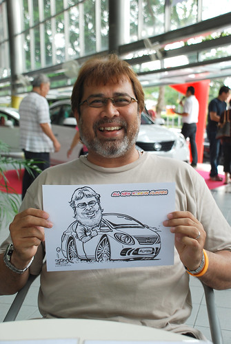 Caricature live sketching for Tan Chong Nissan Almera Soft Launch - Day 1 - 2