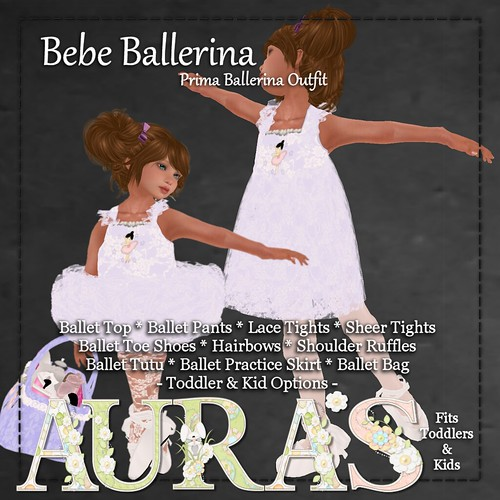 Bebe ballerina Outfit in Purple by Aura Milev