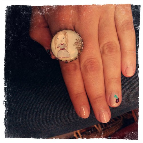 Hand painted Happy Kathy ring!!