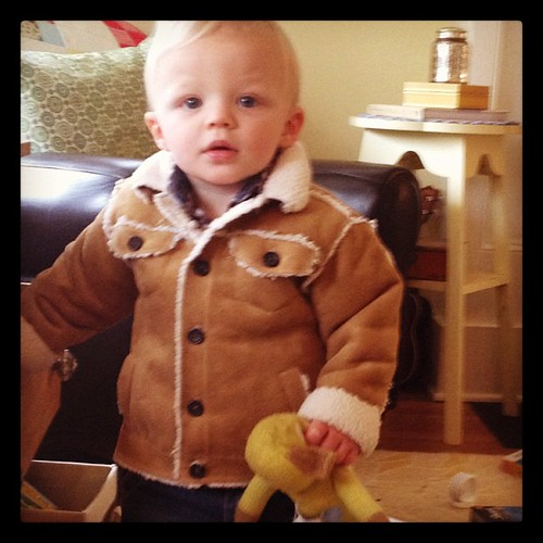 Hello world. I'm 15 mos and loving my new jacket!