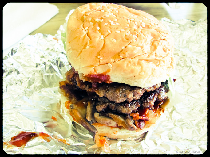 five guys bacon burger