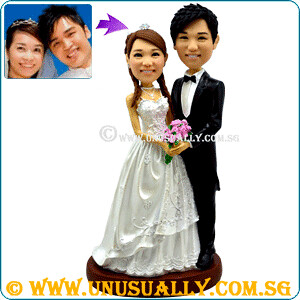 Custom Lovely 30CM Tall Wedding Couple Figurines
