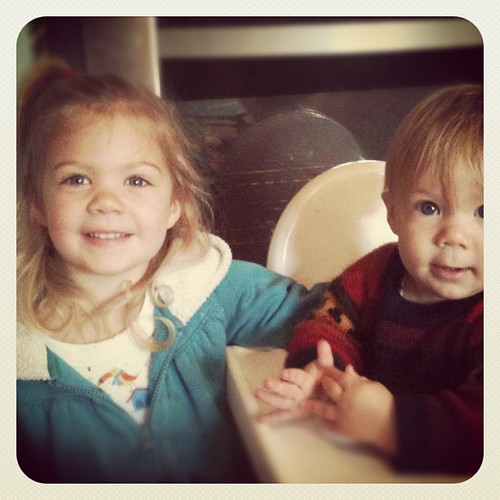 #janphotoaday Childhood - sister and brother