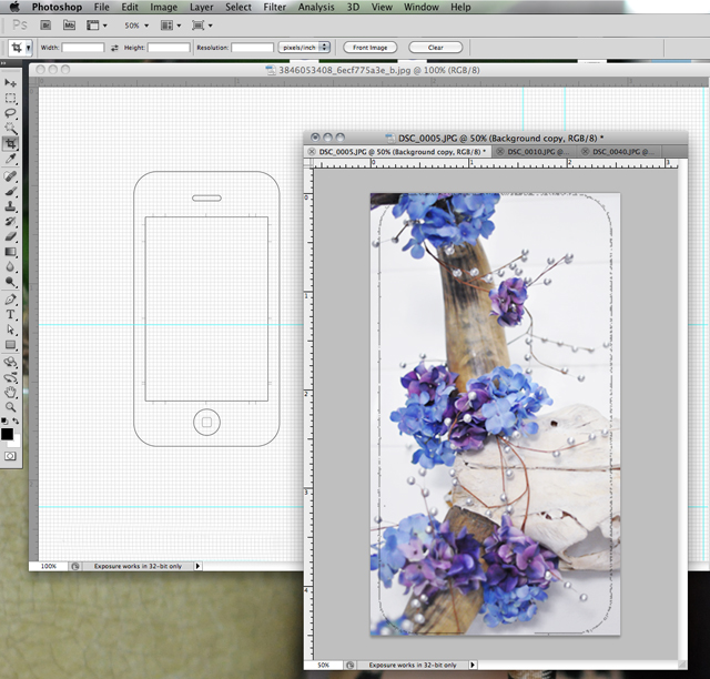phootshop tutorial iphone template