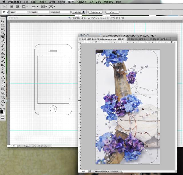 phootshop tutorial iphone template