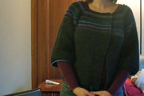 garter stitch swingy sweater by gradschoolknitter