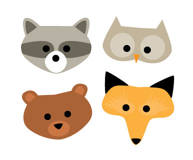 woodland animal masks template - woodland creature masks alpha mom