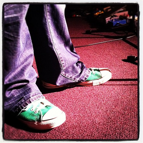 Our guitar players shoes tonight. I all kinds of love this color.