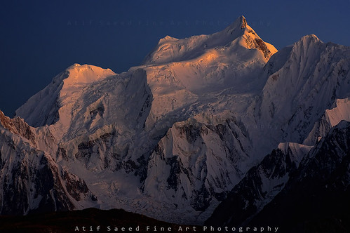 pakistan light sunset mountain mountains nature landscape karakoram northernareas rushlake 7000m atifsaeed