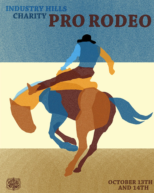 Industry Hill Charity Pro Rodeo Poster