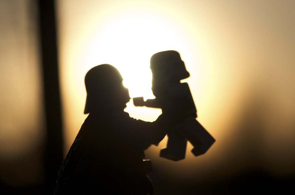 Star Wars play in the morning light