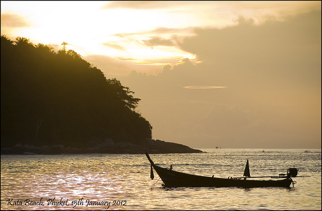 Sunset at Kata Beach Phuket, 15th January 2012