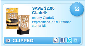Glade Expressions Oil Diffuser Starter Kit Coupon
