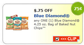 Blue Diamond 4.25 Oz. Bag Of Baked Nut Chips Coupon