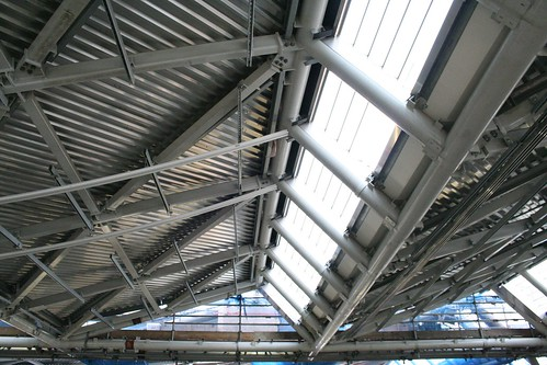 Unfinished ceiling awaiting cladding