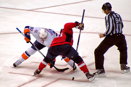 Johansson and Tavares Faceoff