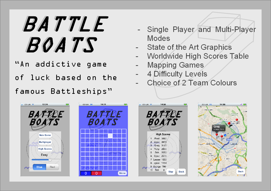 Battle Boats poster with screenshots