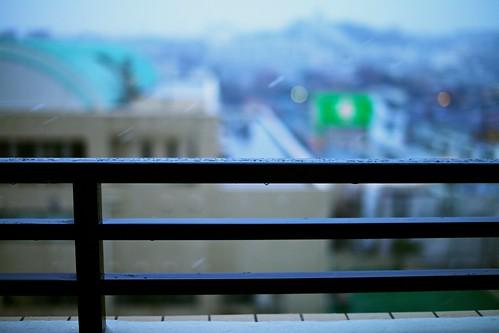 横浜、初雪