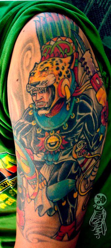 Guerrero Jaguar Tattoo Diseños Originales De Tatuaje Custo Flickr