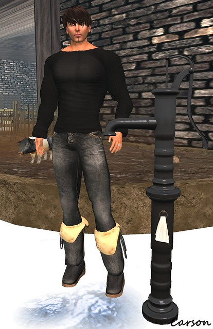 Cilian'gel - Chicken Soup Black Sweater & Jeans, Kookie Muggys