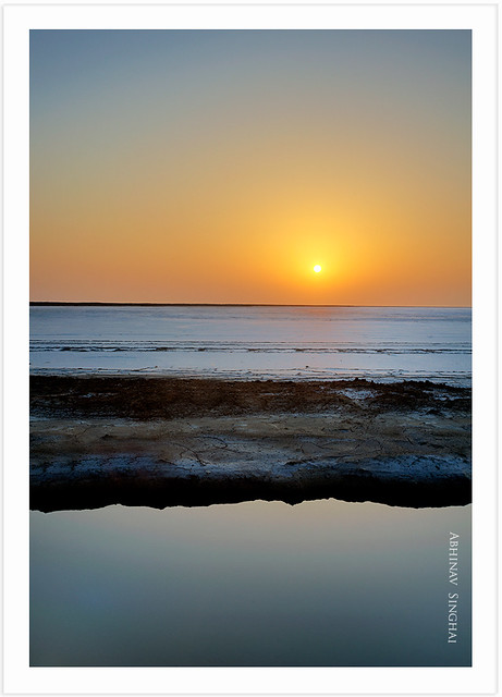 Sunset at White Rann of Kutch