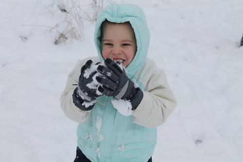 Tasting the snow